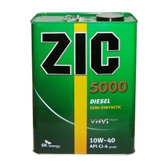 Моторное масло ZIC Diesel 5000 для дизельных двигателей 10W-40