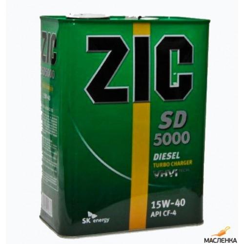 Моторное масло ZIC Diesel 5000 для дизельных двигателей 15W-40