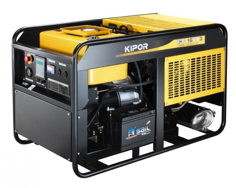 Дизельный генератор KIPOR KDE16EA3, 400/230В, 10.8 кВт