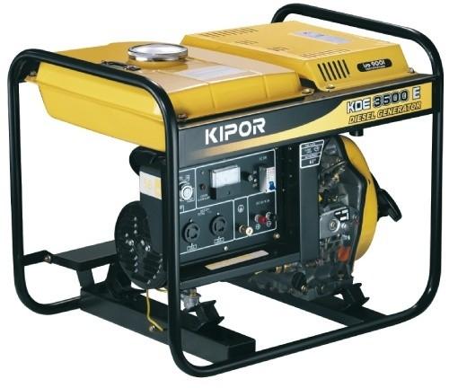 Дизельный генератор KIPOR KDE6500E, 230В, 4.5 кВт