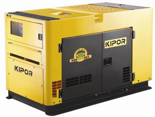 Дизельный генератор KIPOR KDE30SSP3, 400/230В, 19.2 кВт