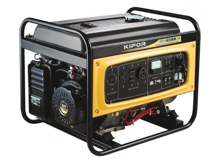 Бензогенератор KIPOR KGE6500E, 230В, 5 кВт