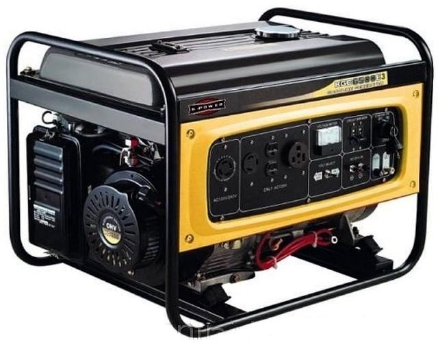 Бензогенератор KIPOR KGE6500E3, 400/230В, 4.5 кВт