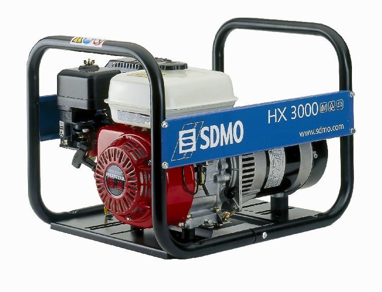 Бензогенератор SDMO HX3000, 230В, 3 кВт