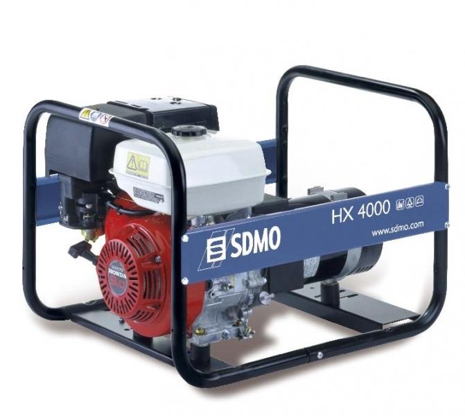 Бензогенератор SDMO HX4000, 230В, 4 кВт