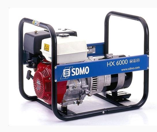Бензогенератор SDMO HX6000, 230В, 6 кВт