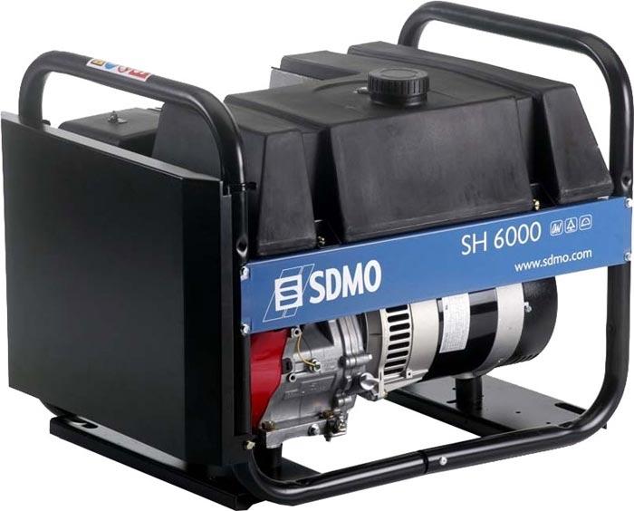 Бензогенератор SDMO SH6000 E, 230В, 6 кВт