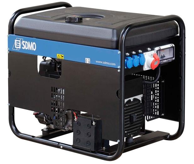 Бензогенератор SDMO Technic 7000 E, 230В, 5.8 кВт