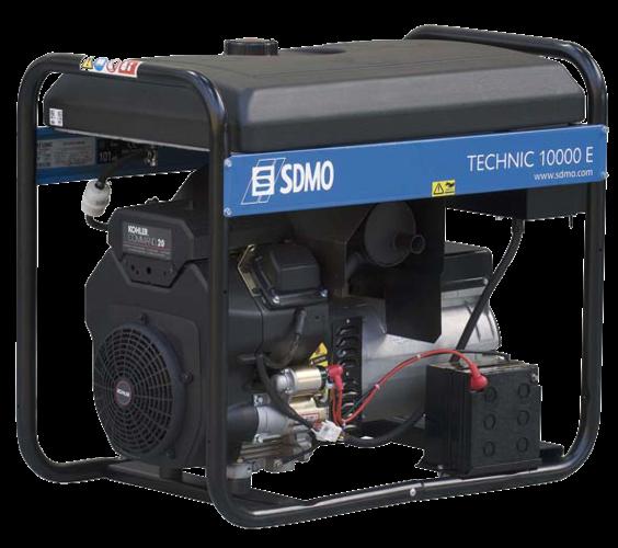 Бензогенератор SDMO Technic 10000 E, 230В, 10 кВт
