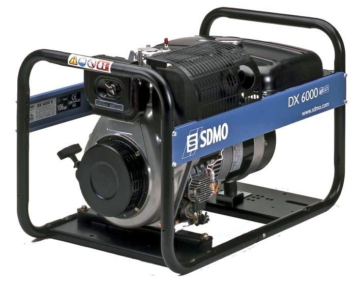 Дизельная электростанция SDMO DX 6000 E 230В, 5.2 кВт
