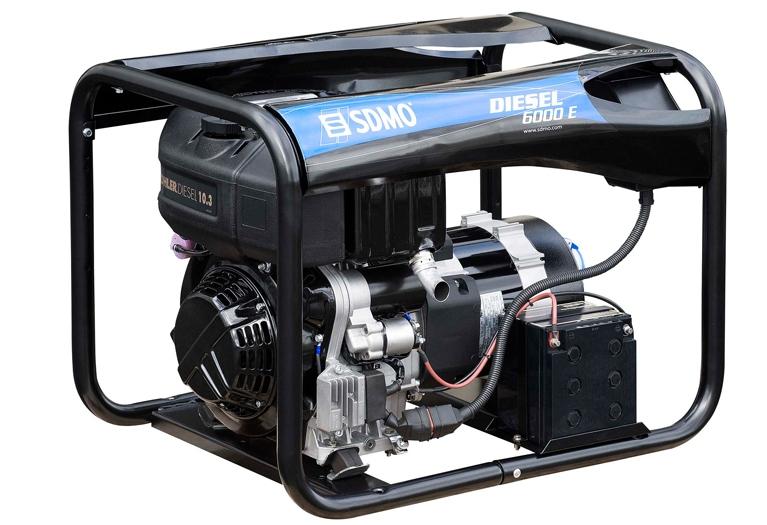 Дизельная электростанция SDMO Diesel 6000 E 230В, 5.2 кВт