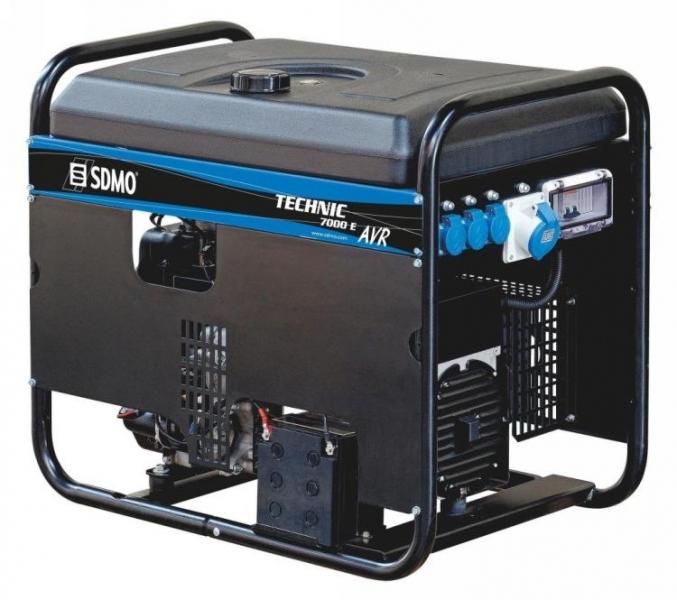Бензогенератор SDMO Technic 7500TE, 400/230В, 5.4 кВт