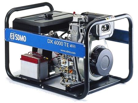 Дизельная электростанция SDMO DX 6000 TE 400/230В, 5.2 кВт