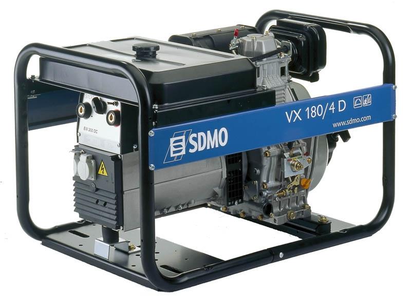 Дизельная сварочная электростанция SDMO VX 180/4 DE, 230В, 5 кВт