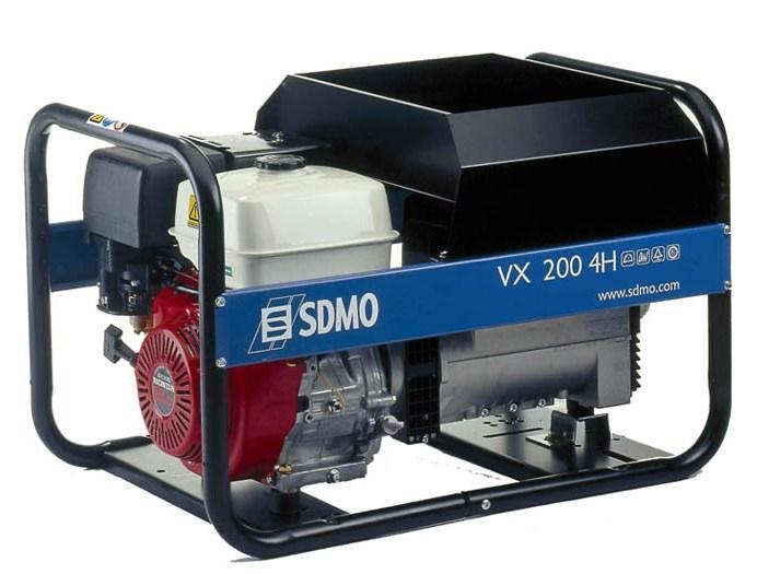 Сварочный бензиновый агрегат SDMO VX200/4H, 230В, 4 кВт