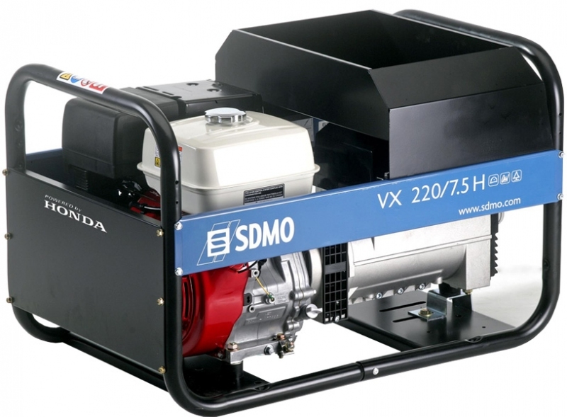 Сварочный бензиновый агрегат SDMO VX 220/7.5H, 400/230В, 6 кВт