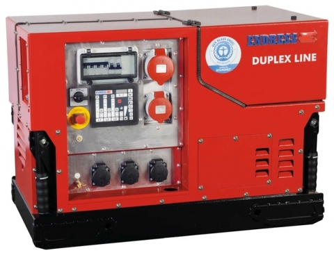 Бензиновый электрогенератор ENDRESS ESE 1408 DBG ES DUPLEX Silent