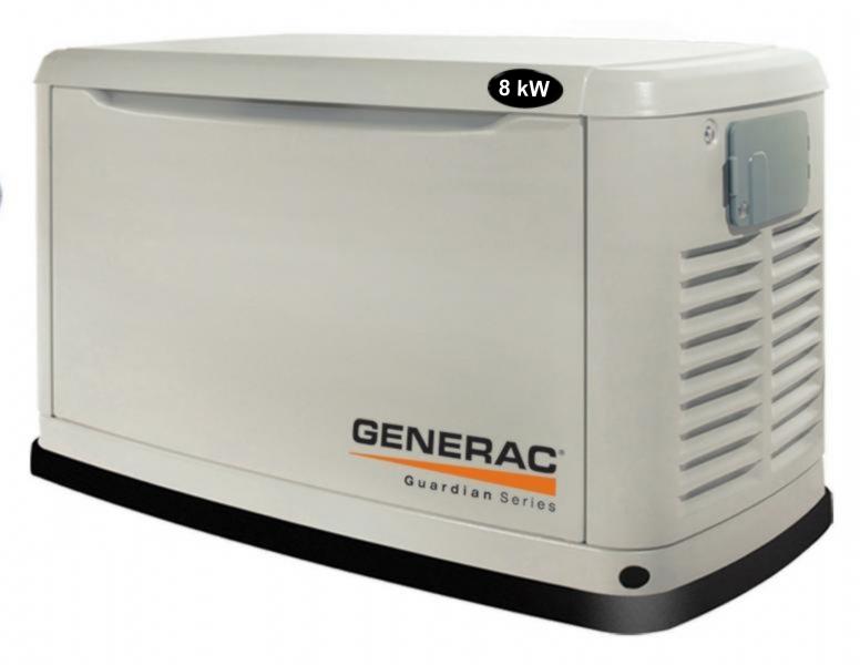 Газовый электрогенератор 8 кВт Generac 5914