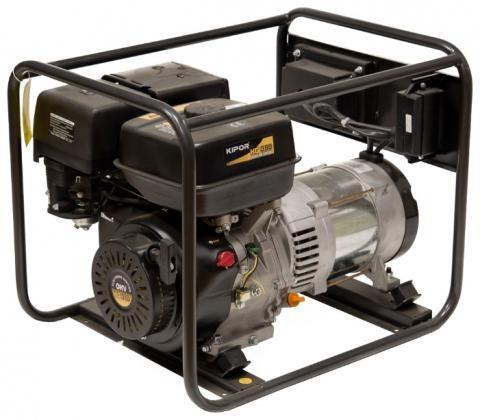 Бензогенератор KIPOR KGE6000С, 230В/12В, 5.5 кВт