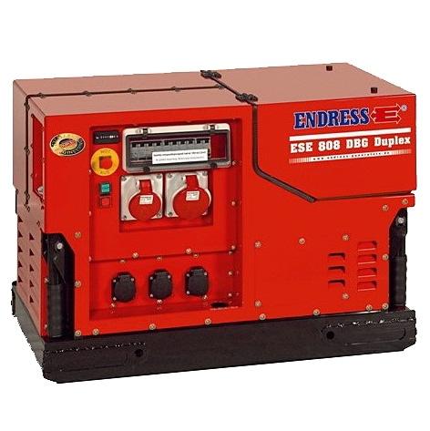 Бензиновый электрогенератор ENDRESS ESE 808 DBG ES DUPLEX Silent