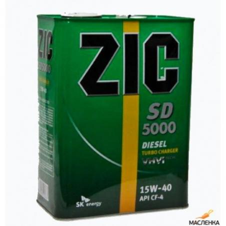 Моторное масло ZIC Diesel 5000 для дизельных двигателей 15W-40 - 1012