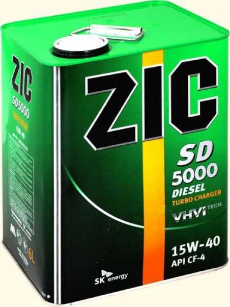 Моторное масло ZIC Diesel 5000 для дизельных двигателей 15W-40 - 1013