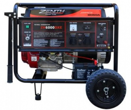 Бензиновый генератор ZENITH ZH6000DXE - 1014