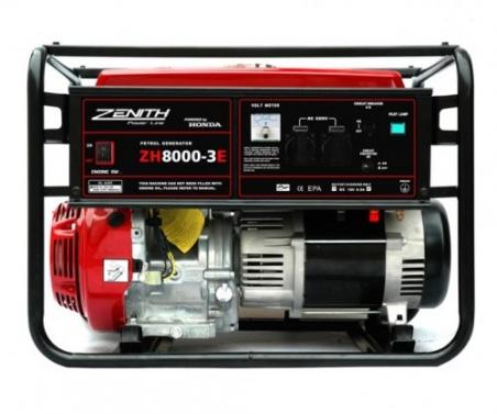 Бензиновый генератор ZENITH ZH8000-3E - 1027