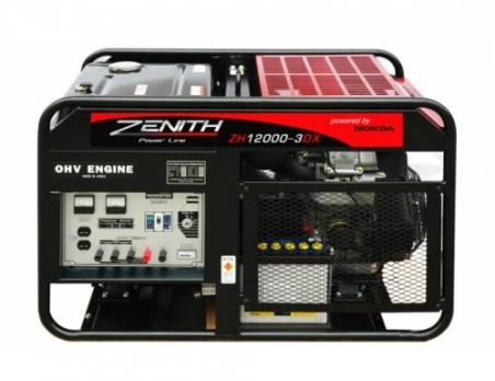 Бензиновый генератор ZENITH ZH12000 3DX - 1030