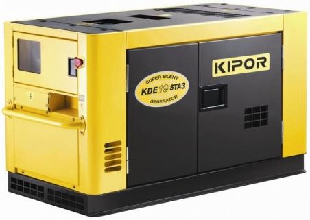 Дизельный генератор KIPOR KDE12STA3, 400/230В, 8 кВт - 216