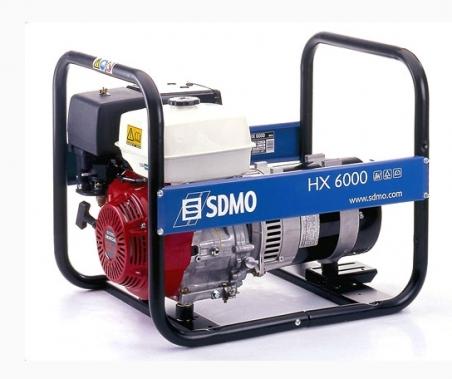 Бензогенератор SDMO HX6000, 230В, 6 кВт - 258